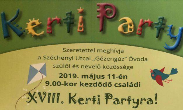 XVIII. Kerti Party