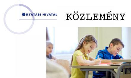 Az Oktatási Hivatal közleménye